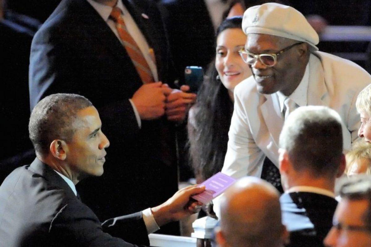 Con Samuel L Jackson Foto:Getty Images. Imagen Por: