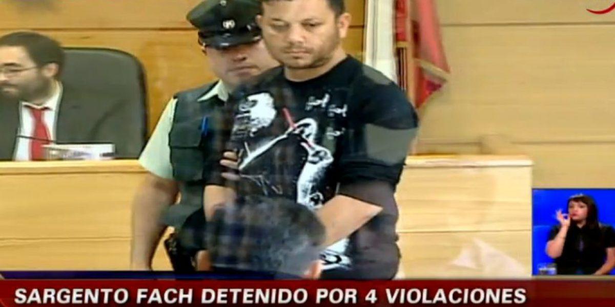 Sargento de la FACH fue acusado de violar a cuatro menores de 10 a 15 años en San Bernardo