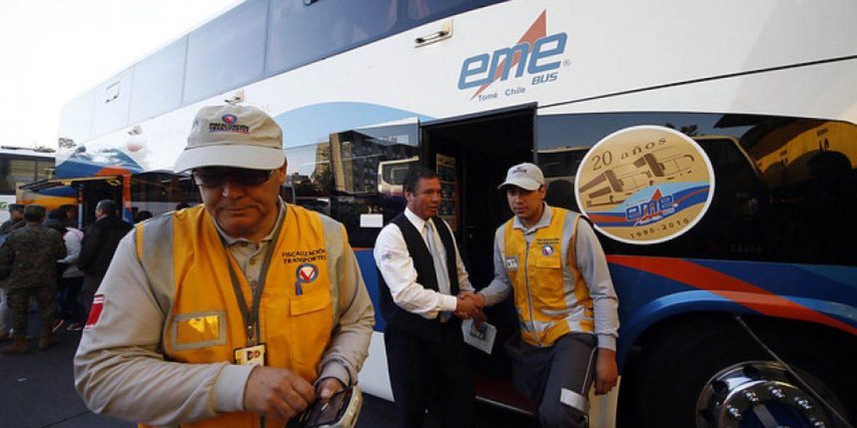 Infracciones a buses de pasajeros interurbanos bajaron del 20% en 2013 al 16,5% el año pasado