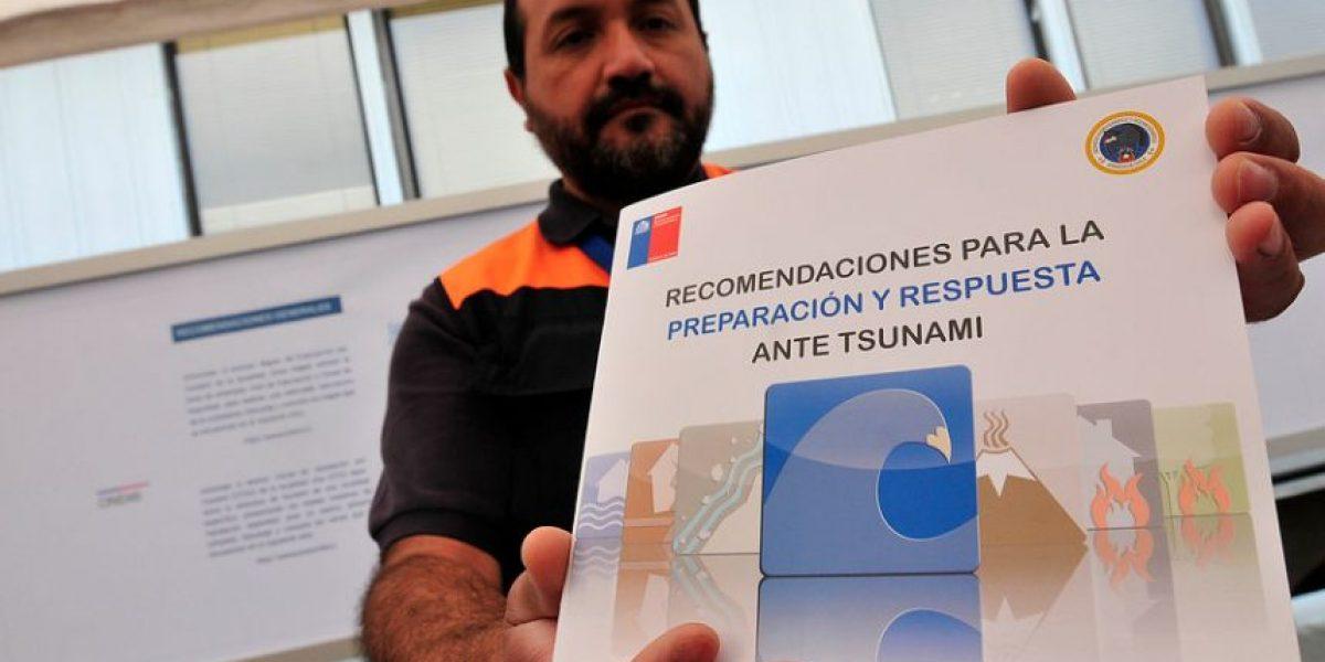 ONEMI entregó detalles del Manual de Recomendaciones ante Tsunamis en la región de Valparaíso