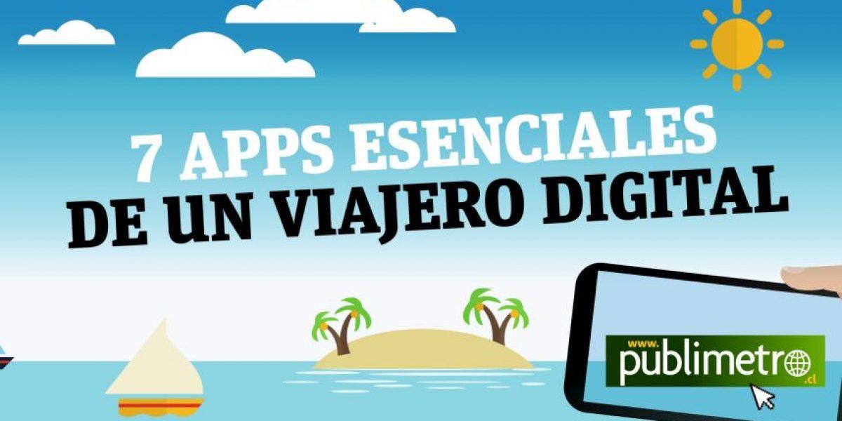 INFOGRAFÍA: Estas son las 7 apps esenciales para un viajero digital