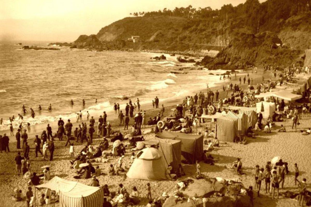 Balneario Las Salinas de Viña del Mar en 1930. Foto:Fotos Históricas de Chile. Imagen Por: