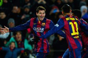 Messi anotó al minuto 56 de tiempo corrido. Foto:Getty Images. Imagen Por:
