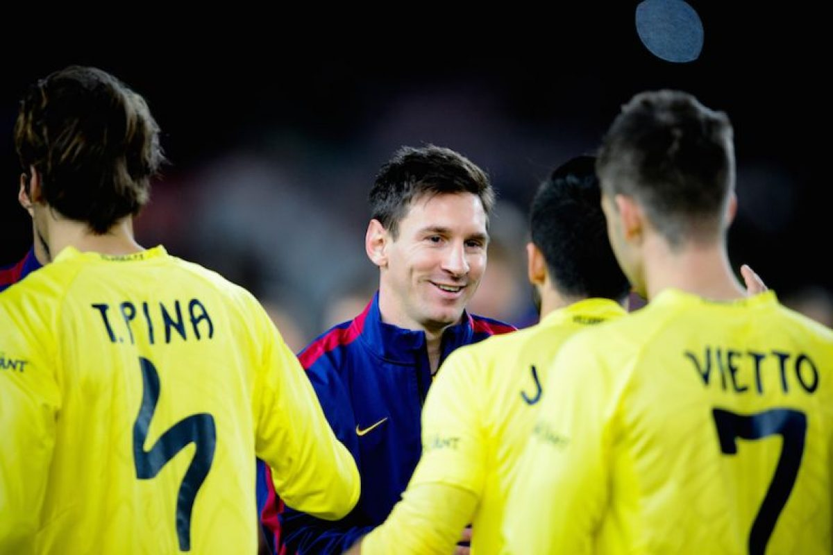 El argentino se mostró sonriente antes de iniciar el partido. Foto:Getty Images. Imagen Por: