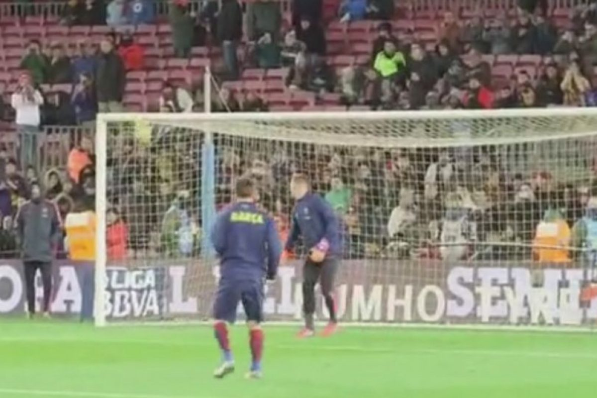 Messi hizo un golazo inalcanzable para Ter Stegen. Foto:Vine. Imagen Por: