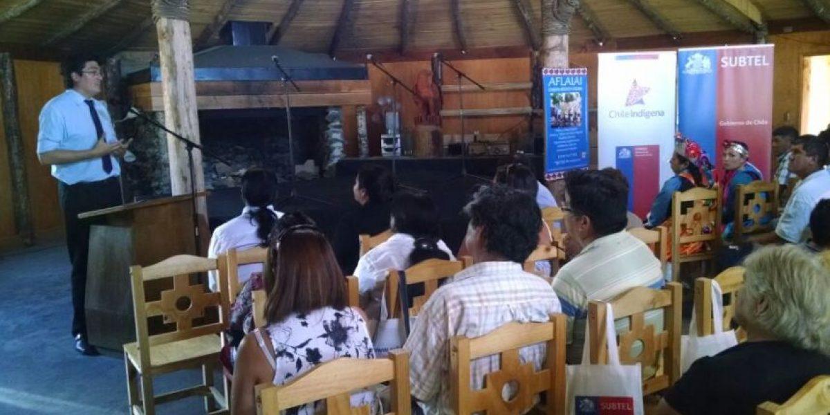 Subtel inauguró WiFi gratuito en la comunidad mapuche