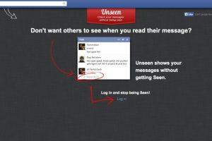 Si no quieren que nadie se entere cuando leyeron sus mensajes en el chat, pueden utilizar aplicaciones como Facebook Unseen App para Chrome. Foto:Facebook. Imagen Por: