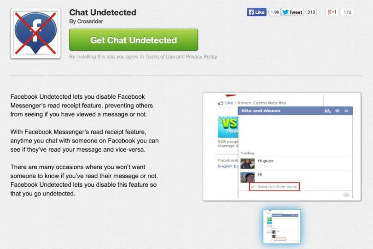 Crossrider chat también sirve para Chrome, Firefox y Explorer. Foto:Facebook. Imagen Por: