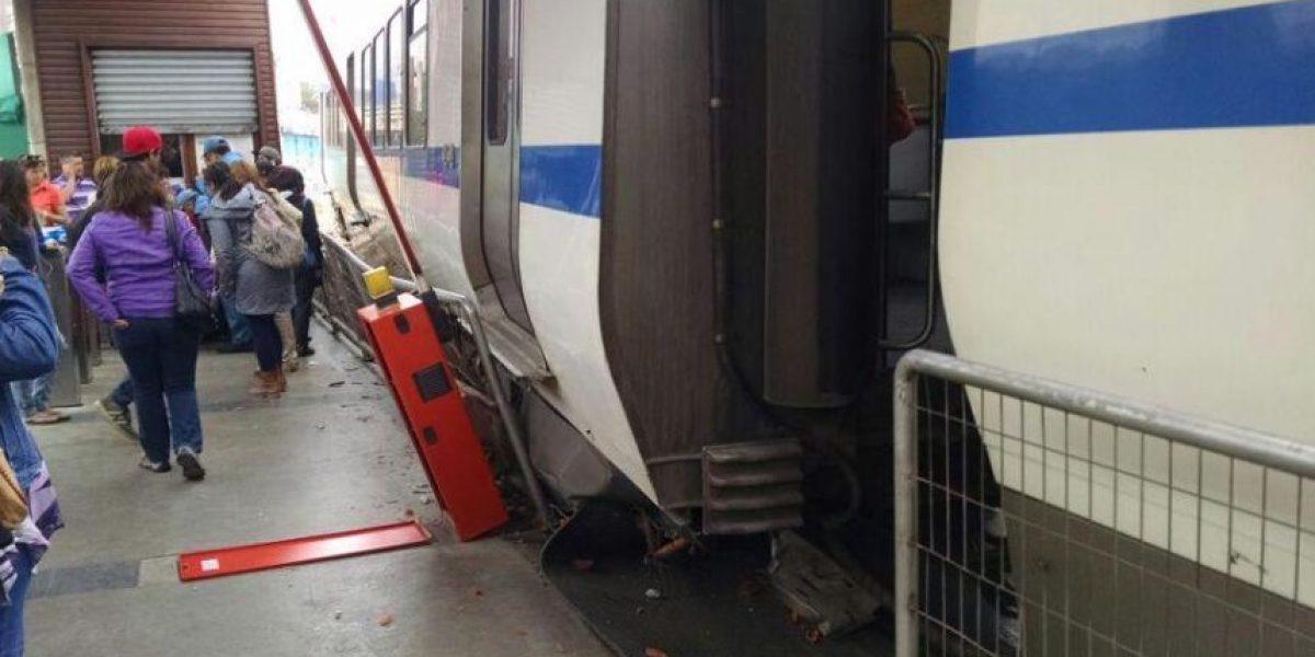 Un vagón se descarriló en el Metro de Valparaíso dejando al menos un herido