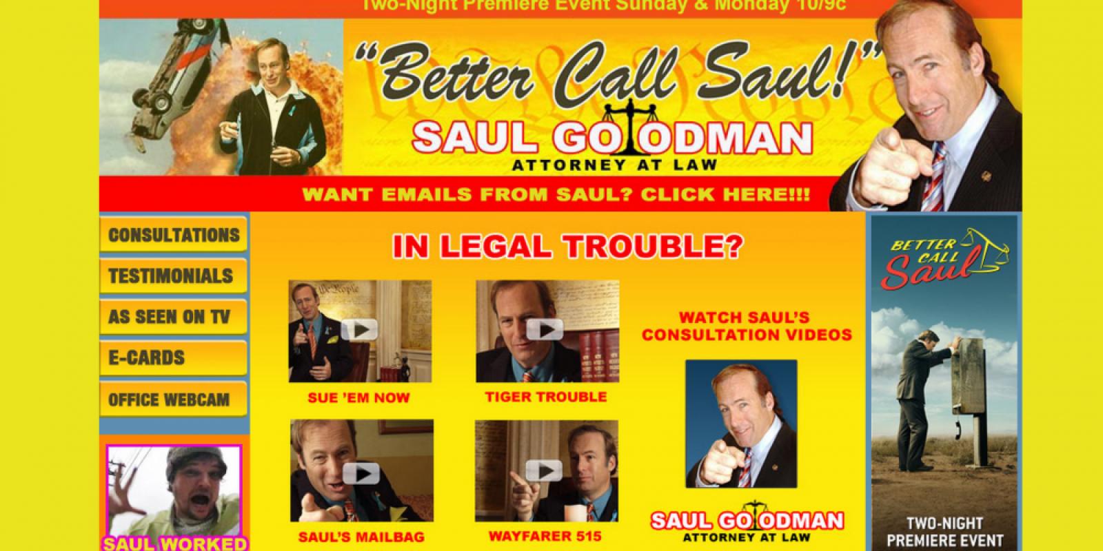 . Imagen Por: http://www.bettercallsaul.com/