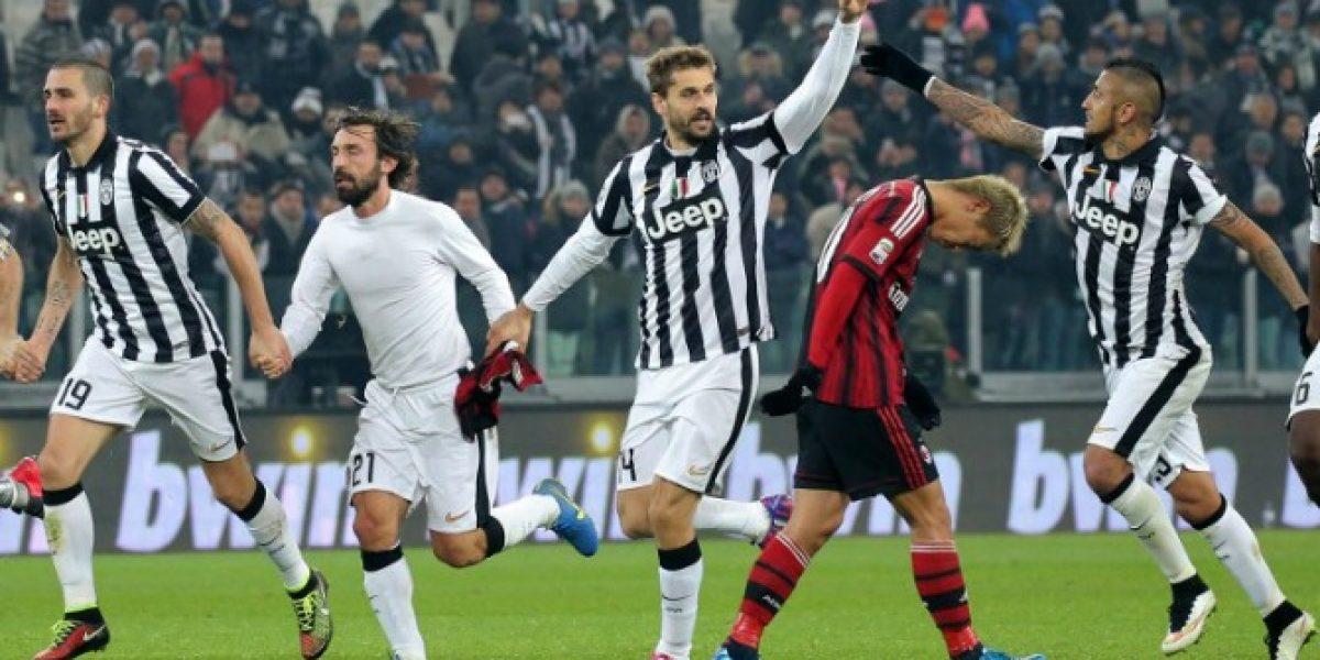 Con Vidal a plenitud, la Juventus venció con autoridad al Milan