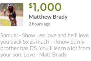 Sam ya ha recibido más de 440 mil dólares Foto:Go Fund Me. Imagen Por: