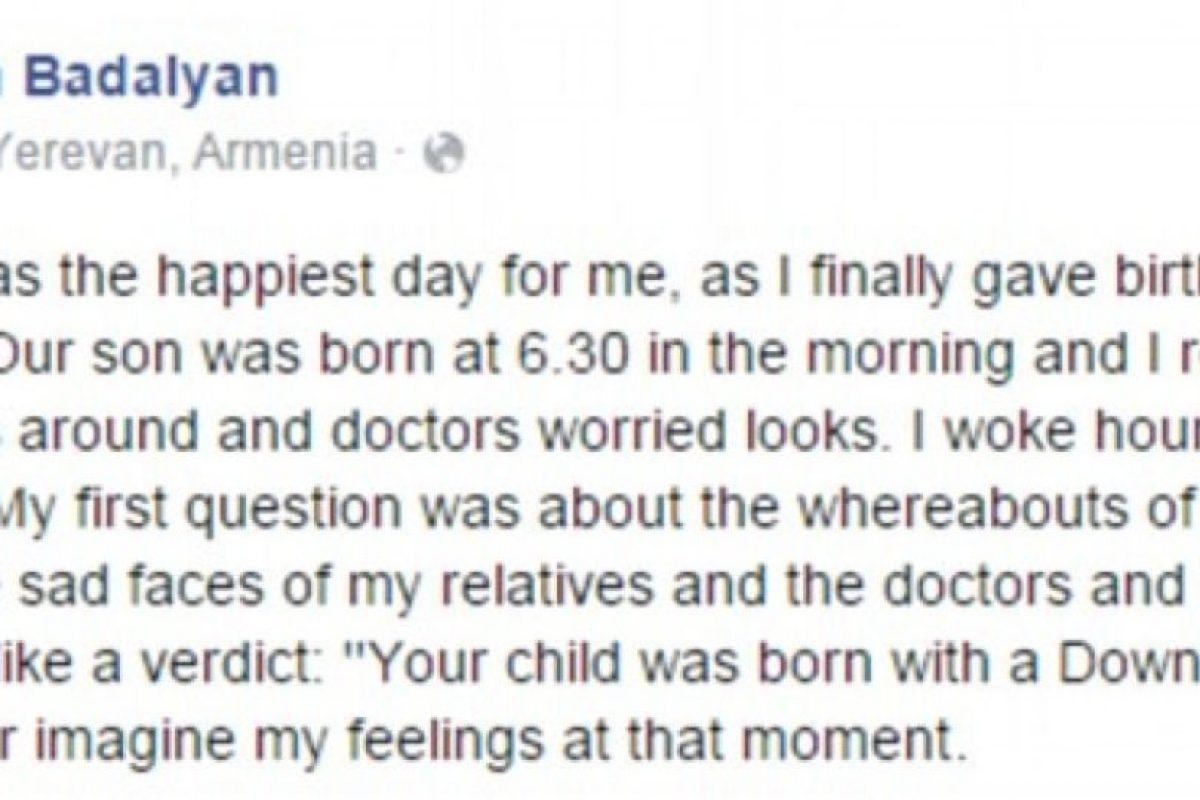Mientras Ruzan trata de explicar lo que realmente pasó. Foto:Facebook. Imagen Por: