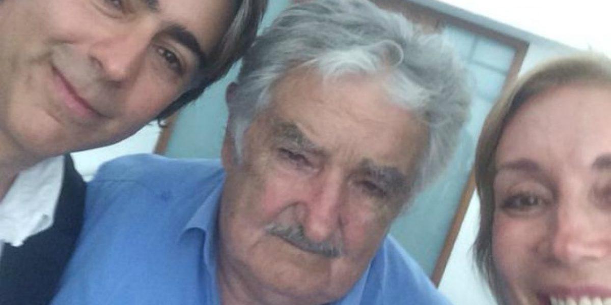 Karen Doggenweiler se luce con Pepe Mujica