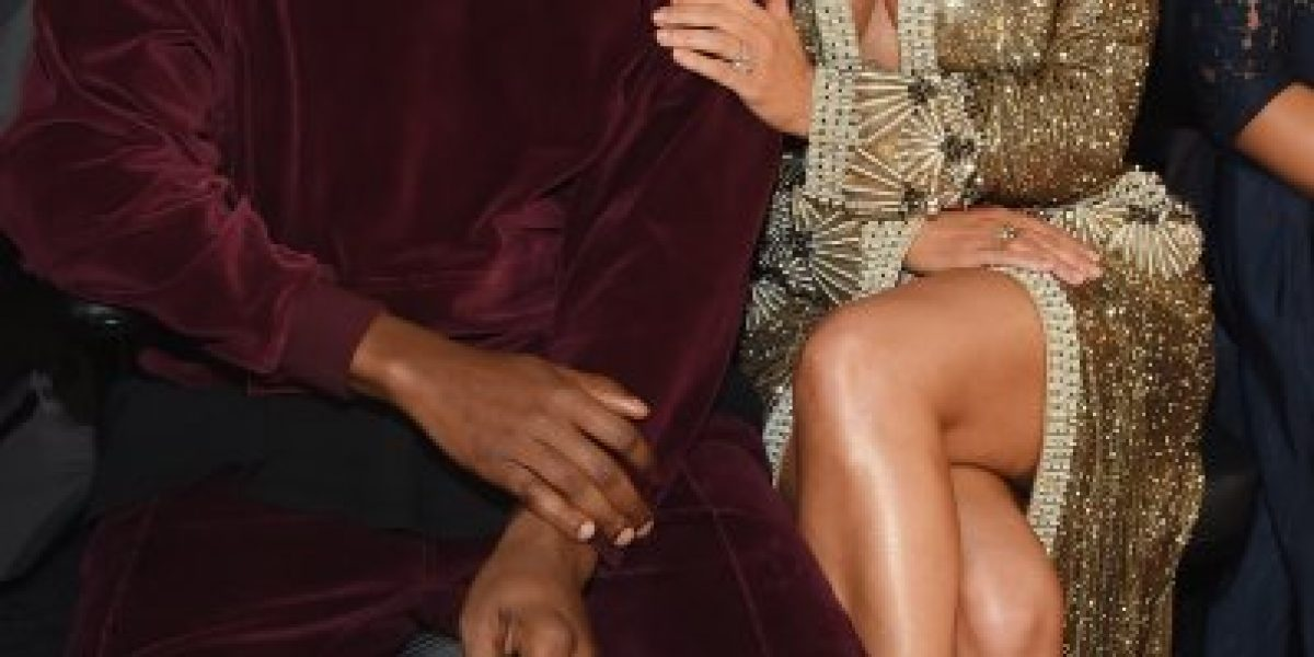 FOTOS: ¡La pareja más hot! Kim y Kanye elevaron la temperatura en los Grammy