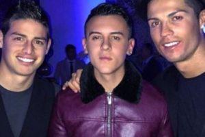 James asistió a la fiesta de cumpleaños de Cristiano Ronaldo. Foto:twitter.com/juanjahil. Imagen Por: