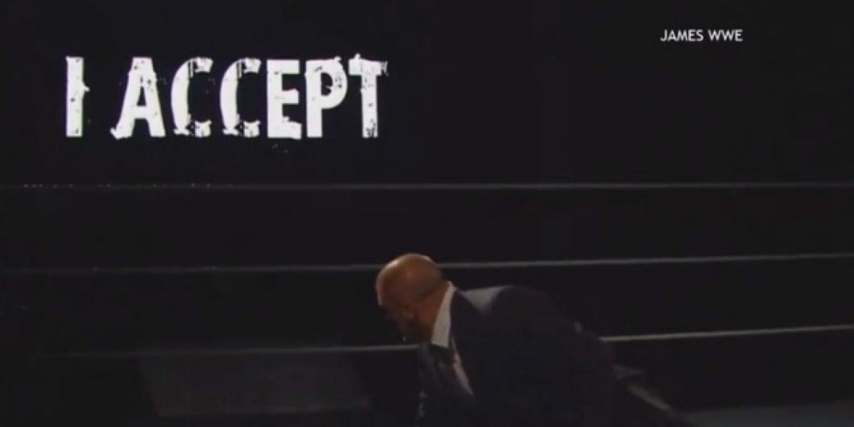 Video: Sting respondió de una forma muy particular el desafío de Triple H