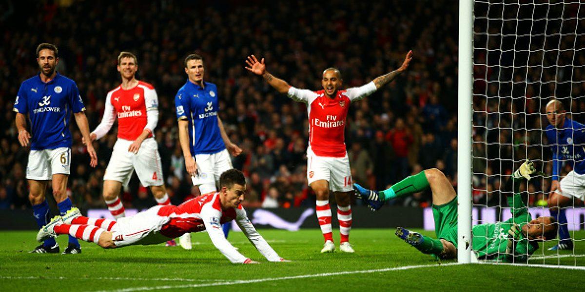 Alexis Sánchez volvió a las canchas en ajustado triunfo del Arsenal frente a Leicester
