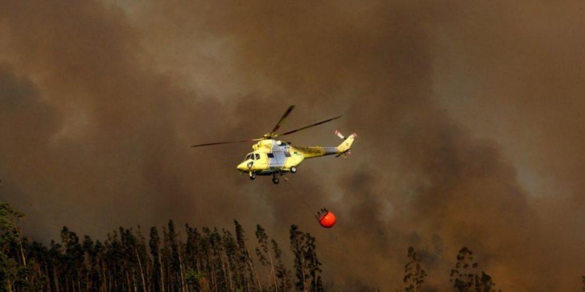 Autoridades decretan alerta roja en el sur por incendios forestales