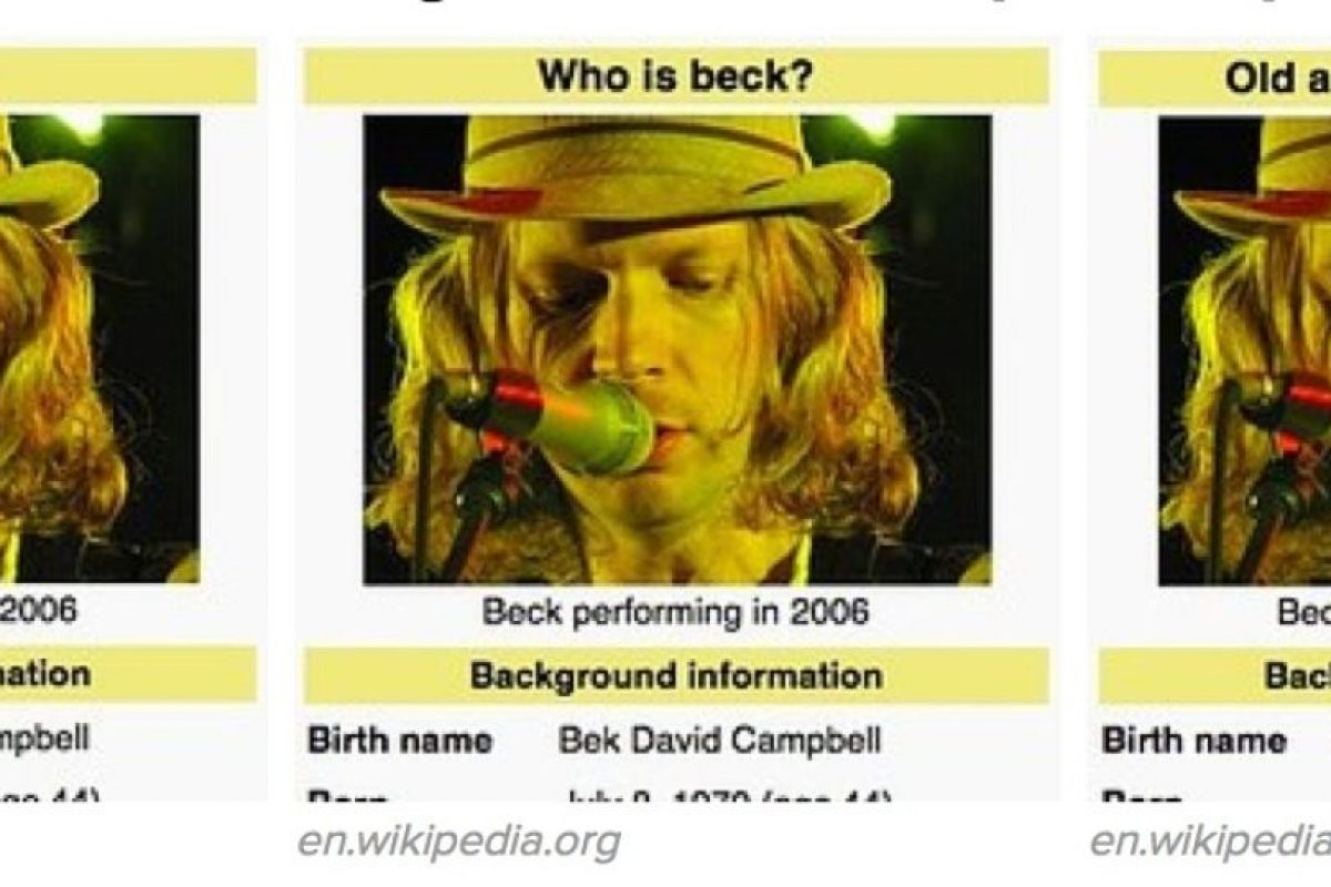 """Le dijeron a Beck """"Irrelevante"""", """"Viejo que Roba Grammys"""", """"¿Quién es Beck?"""" Foto:Wikipedia. Imagen Por:"""