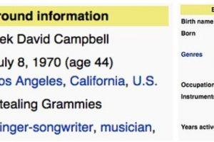 "En géneros pusieron: ""Robar Grammys"" Foto:Wikipedia. Imagen Por:"