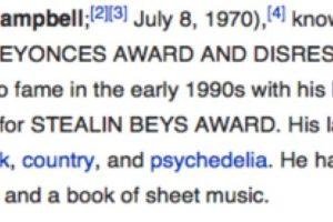 """En su biografía pusieron """"se especializa en robar Grammys e irrespeta el arte negro"""" Foto:Wikipedia. Imagen Por:"""