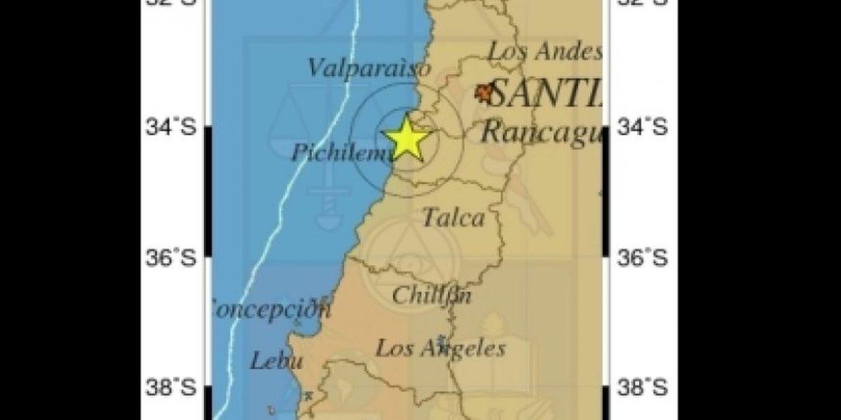 Sismo de mediana intensidad se registró esta madrugada entre Valparaíso y Talca