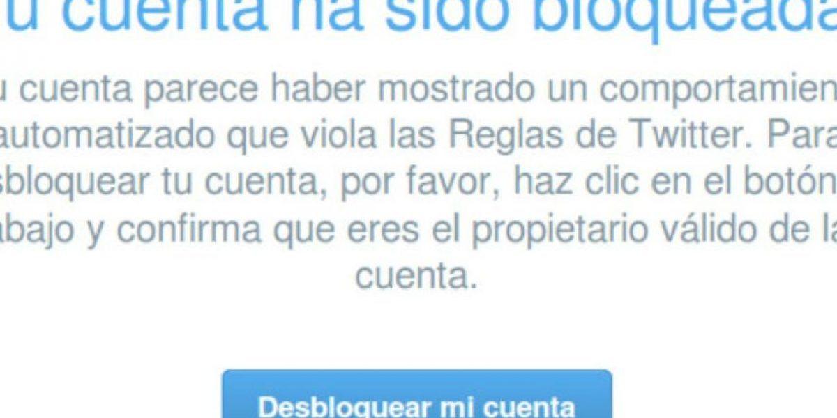 Twitter bloquea cuentas de usuarios sin razón aparente