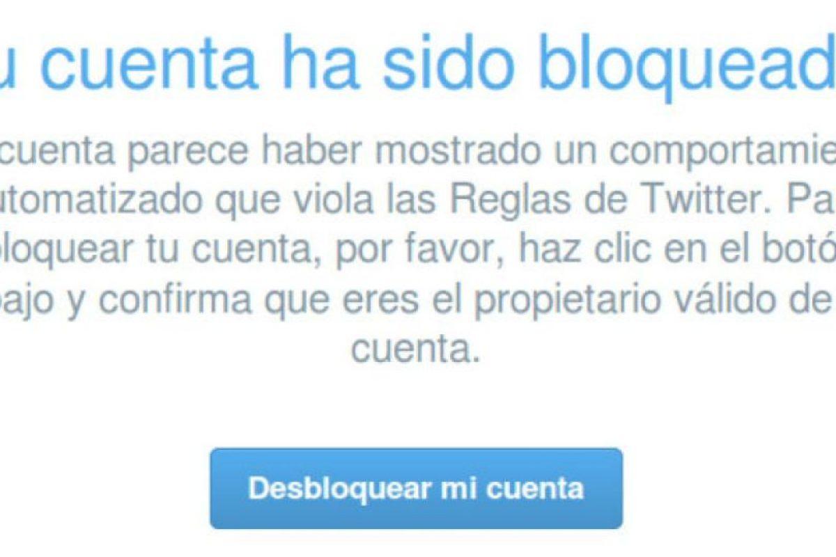 La red social muestra este mensaje a algunos de sus usuarios. Foto:Twitter. Imagen Por:
