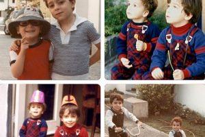 La postal dada a conocer por Parada, donde sale con su hermano Foto:Facebook. Imagen Por: