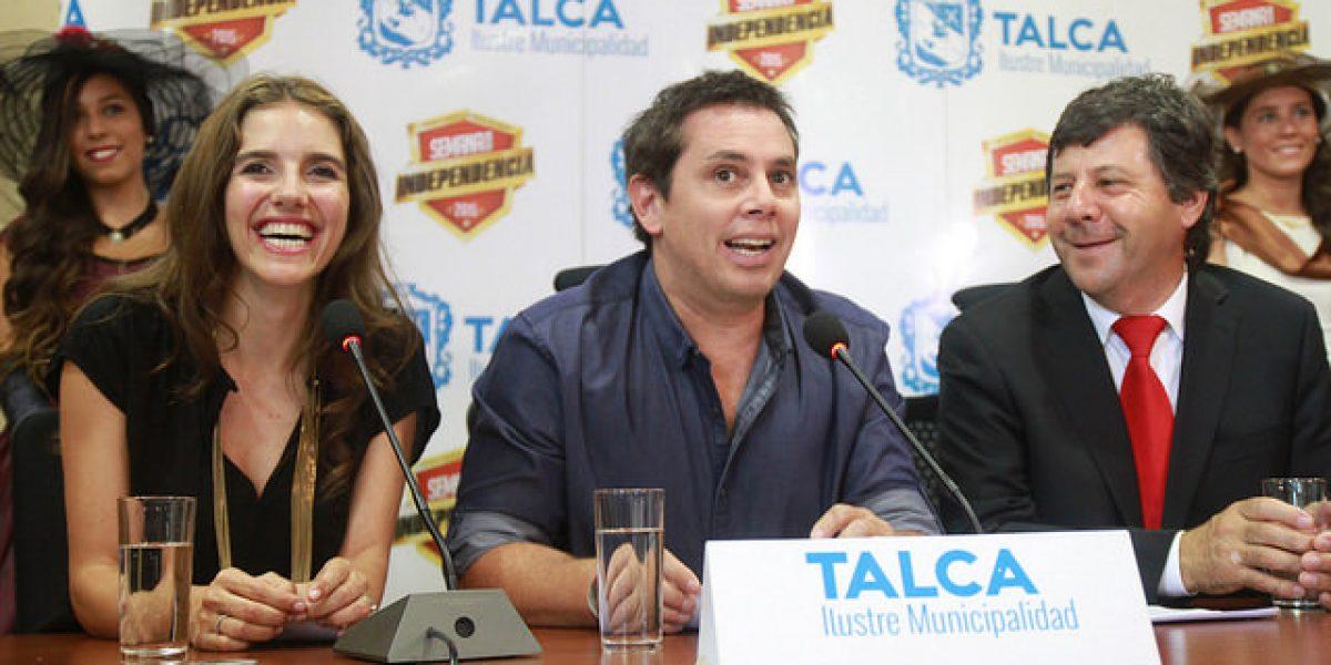 Rostros de TVN empiezan a revolucionar Talca