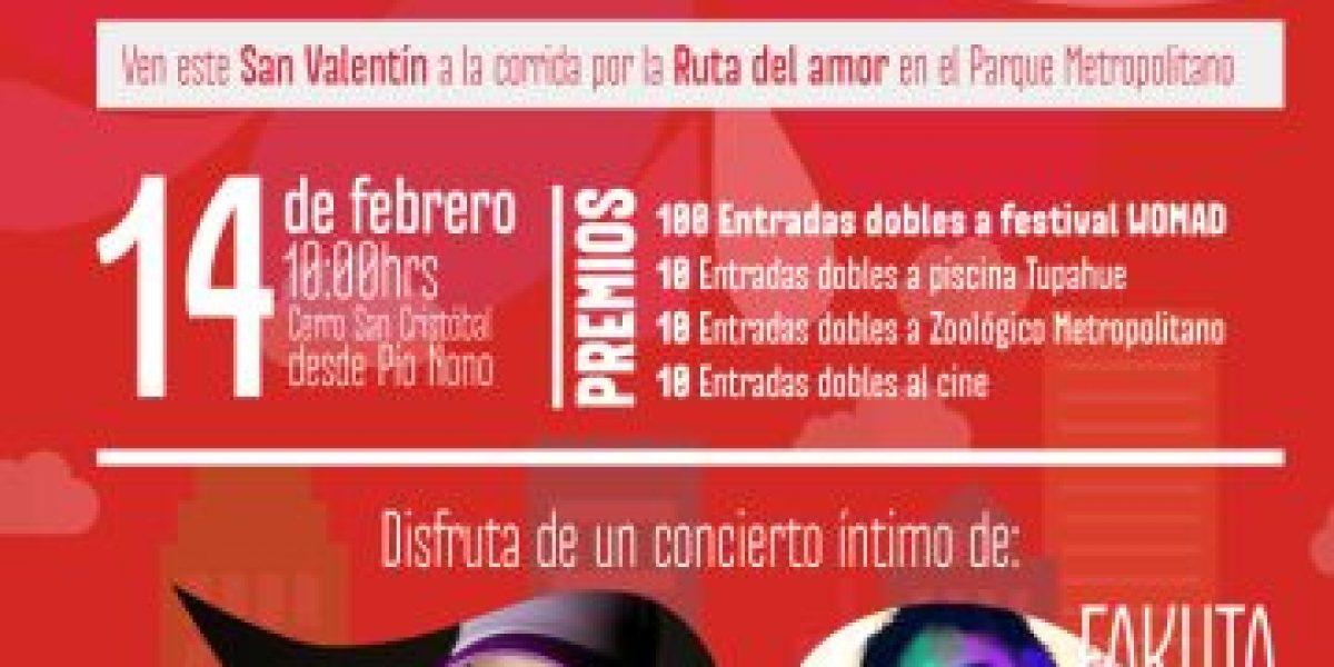 """Corrida por la """"Ruta del Amor"""" este 14 de febrero en el Parque Metropolitano"""