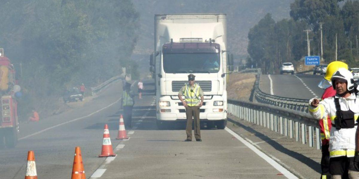Ministerio de Transporte prohíbe tránsito de camiones en ruta 68 durante el fin de semana
