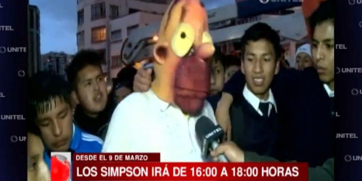 Los Simpson agradecieron a jóvenes bolivianos que protestaron por la serie