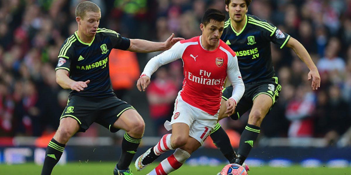 Alexis Sánchez vuelve a brillar en triunfo de Arsenal por la FA Cup