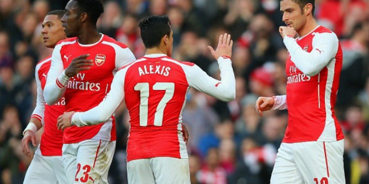 Alexis Sánchez fue figura en triunfo de Arsenal ante Middlesbrough por la FA Cup