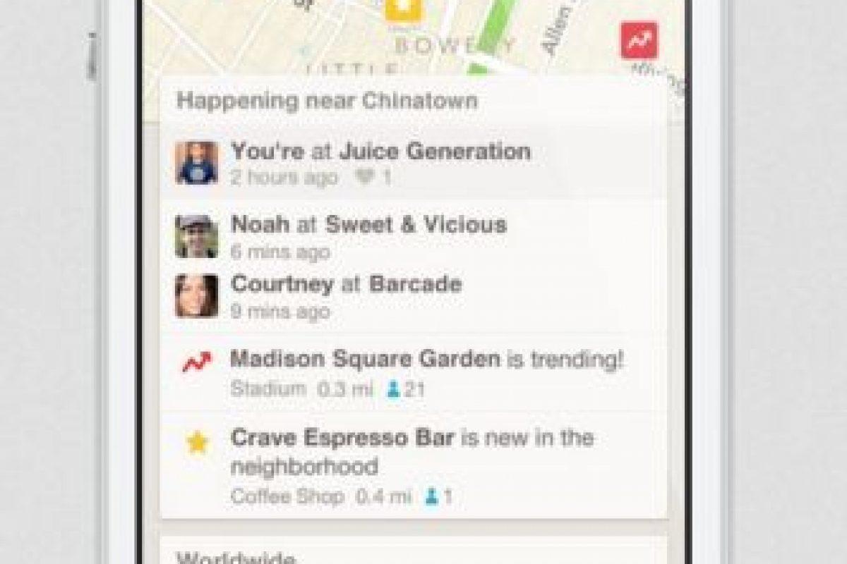Foursquare: Tips, recomendaciones y todo lo que necesitan saber del sitio donde se encuentran. Foto:Foursquare. Imagen Por: