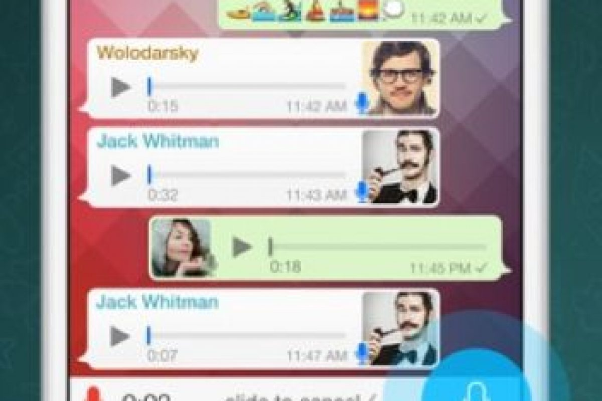 WhatsApp: Se trata de un servicio de mensajería móvil en el que se puede enviar texto, fotos, audio, entre otras cosas a través de Internet. Foto:WhatsApp. Imagen Por: