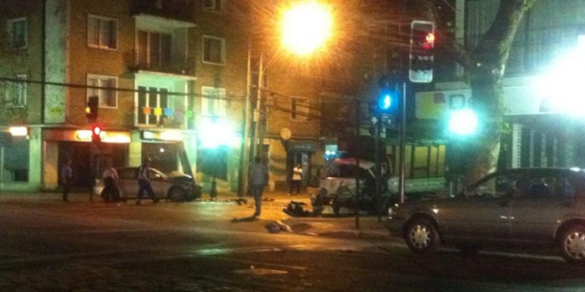 Cinco lesionados dejan accidentes de tránsito registrados esta madrugada en la capital