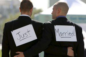 1. La ley de matrimonio igualitario se firmó en Reino Unido el 17 de julio de 2013. Foto:Getty. Imagen Por: