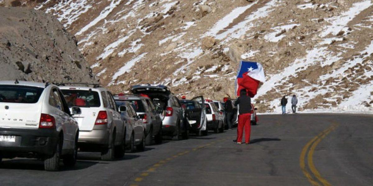 Anuncian cierre de paso Los Libertadores por neviscas en la zona