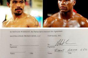 """""""Pacman"""" indicó que él ya había firmado antes que Mayweather Foto:Instagram: @emmanuelpacquiao. Imagen Por:"""