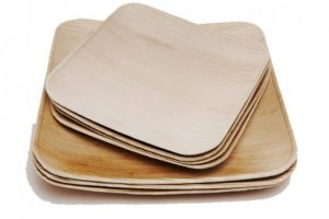 Plato de madera fabricado con hojas caídas Foto:www.promoverde.cl. Imagen Por: