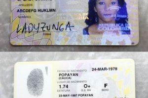 Este es el documento de identificación de esta mujer colombiana Foto:Cortesía. Imagen Por: