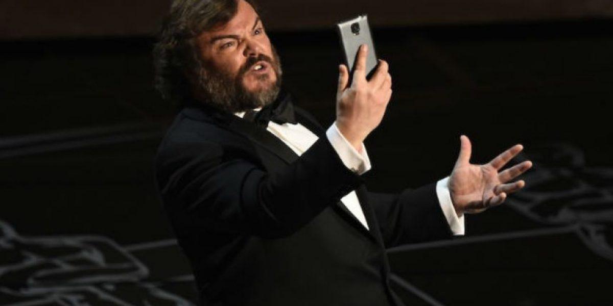 VIDEO: Jack Black usó un Samsung Galaxy en los Premios Oscar