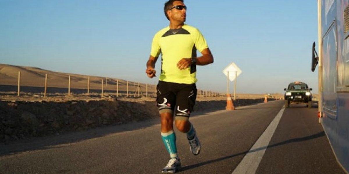 Correr desde Buenos Aires a Valparaíso: el increíble desafío de 25 días de un runner chileno