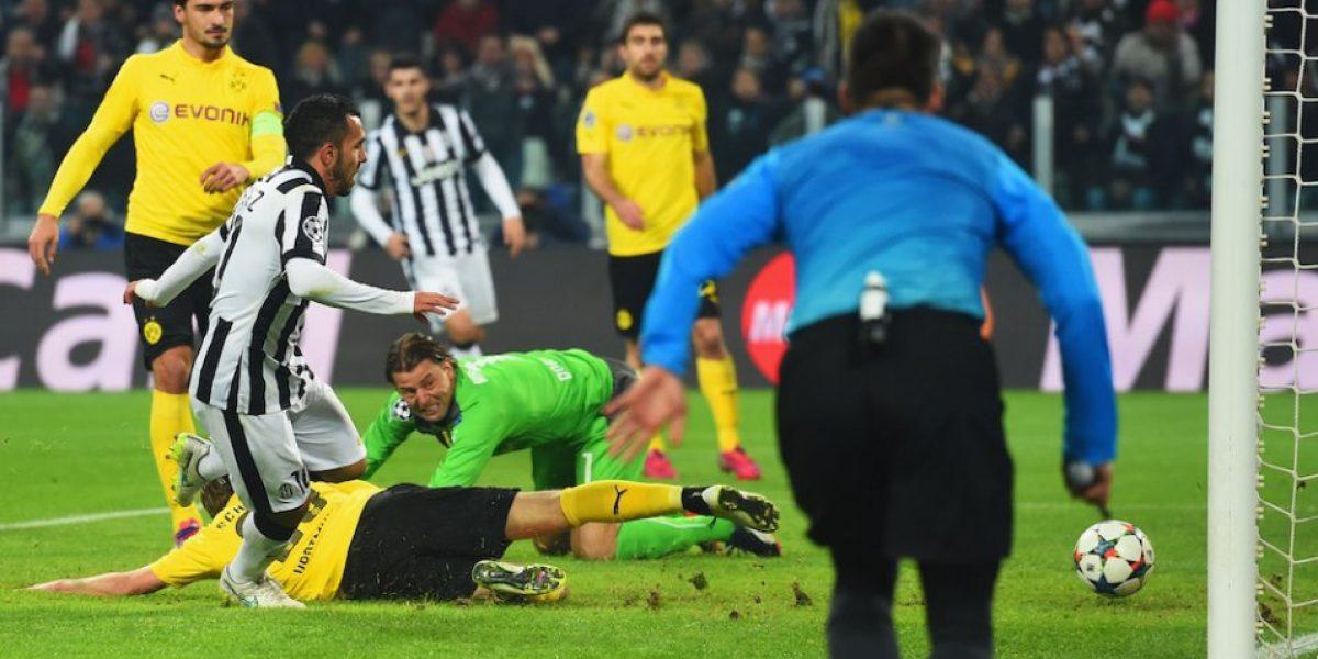 VIDEO: El curioso festejo de Carlos Tévez ante el Borussia Dortmund
