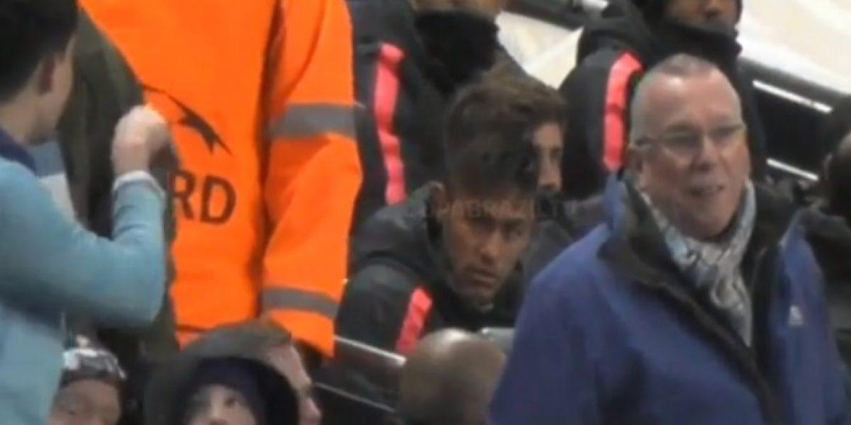 Neymar no aguantó más y encaró a hincha del City que lo molestaba