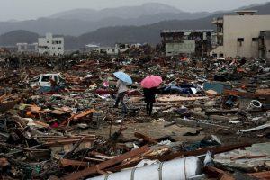 7. Luego del día 12 del terremoto y el tsunami hubo una gran explosión en la planta. Foto:Getty. Imagen Por: