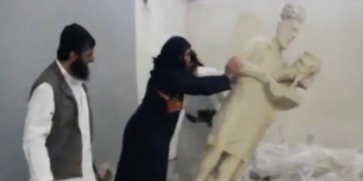 (FOTOS) Seguidores del Estado Islámico destruyeron estatuas de incalculable valor patrimonial